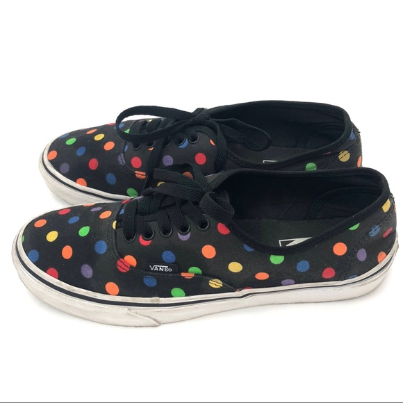 5d57010577 Vans Black Multicolor Polka Dot Sneakers. M 5b1925ccfe515194e64c6f69